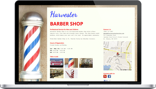 How Harvester Barber Shop Used Onepager to Bring an Old-Fashioned ...