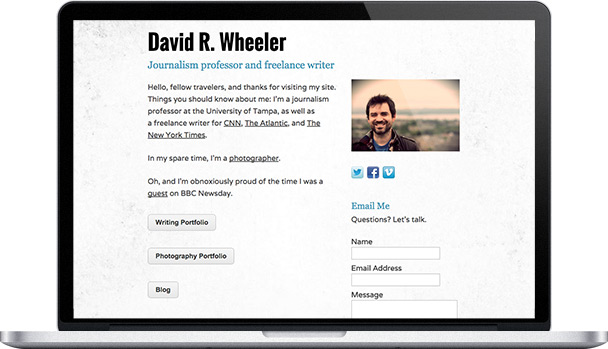 Simple Website David R. Wheeler