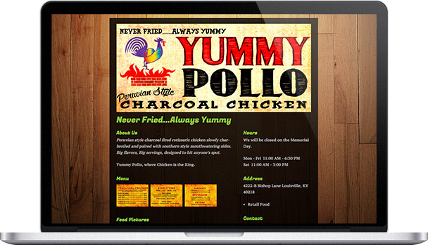 Simple Website Yummy Pollo
