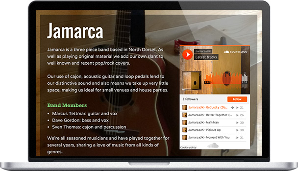Simple Website Jamarca