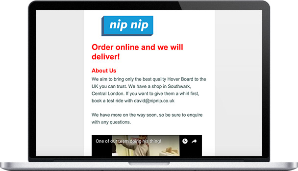 Simple Website Nip Nip Wheels