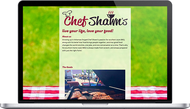 Simple Website Chef Shawn's