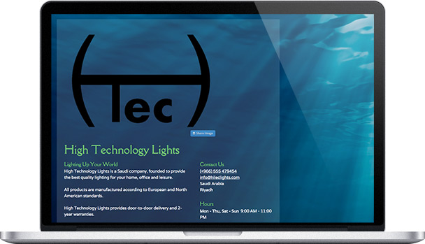 Simple Website High Technology Lights