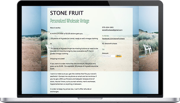 Simple Website Stone Fruit