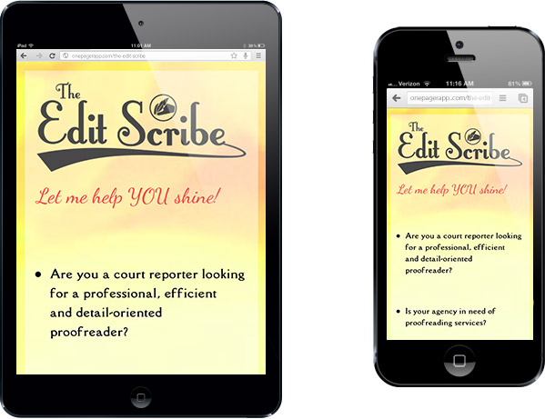 Simple Mobile Site Edit Scribe