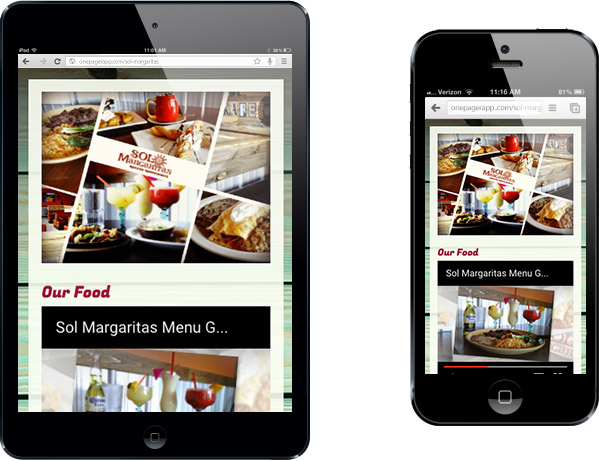 Simple Mobile Site Sol Margaritas