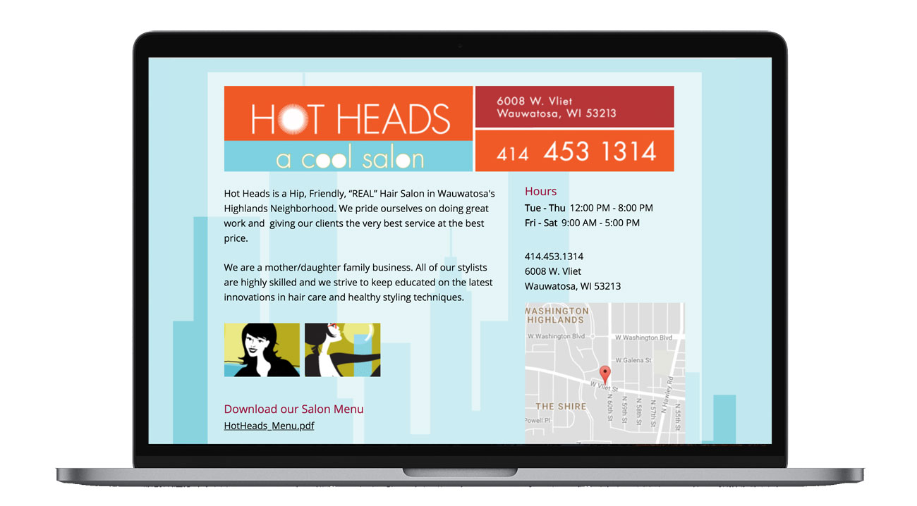 Hot Heads is a cool hair and nail salon based in Wauwatosa, Wisconsin.