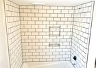 Subway tile tub surround