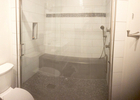 Want that spa feel in your own home? Large walk-in shower complete with rainfall shower, handheld shower wand, and body sprayers