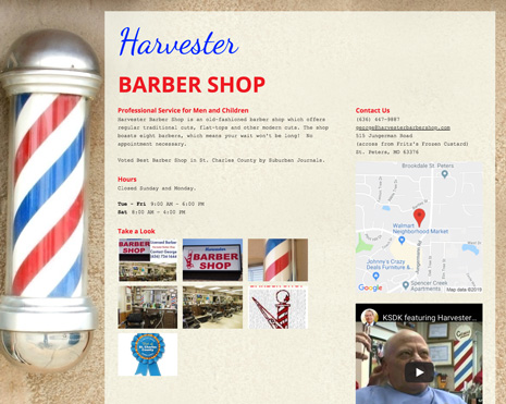Harvester Barber Shop