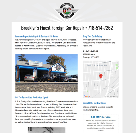 L&M Foreign Car Repair
