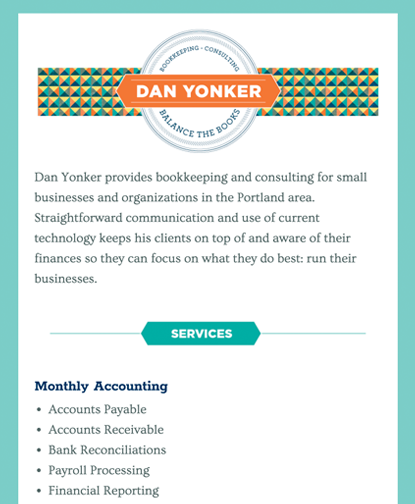 Dan Yonker Bookkeeping Services - Clear Message