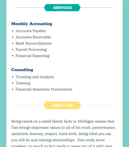 Dan Yonker Bookkeeping Services - About